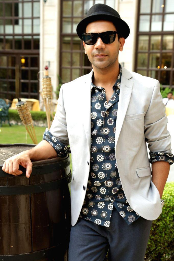 "Actor Rajkummar Rao during a press conference to promote his upcoming film ""Newton"" in New Delhi on Sept 18, 2017. - Rajkummar Rao"