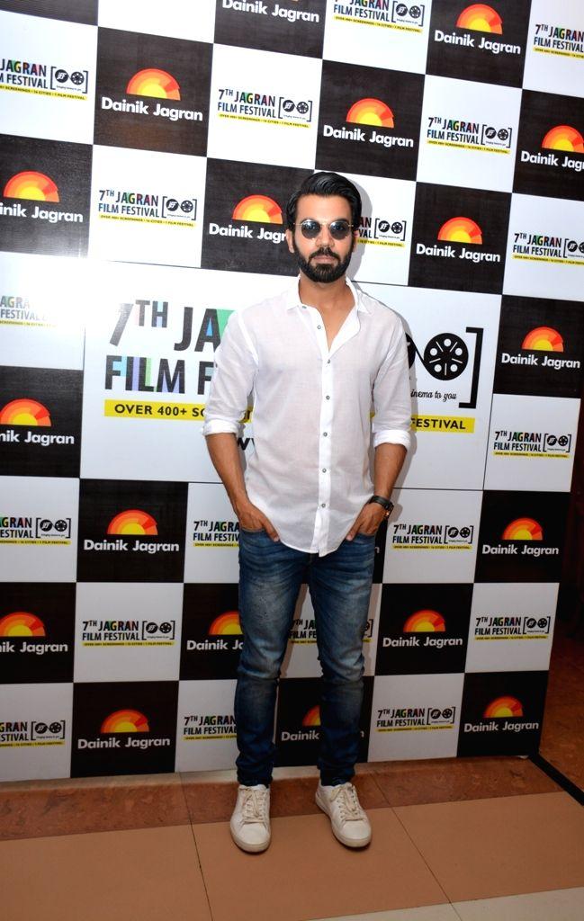 Actor Rajkummar Rao during the 7th Jagran Film Festival in New Delhi on July 3, 2016. - Rajkummar Rao