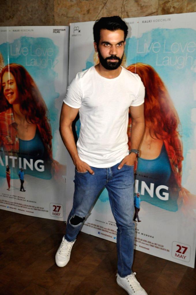 Actor Rajkummar Rao during the screening of film Waiting, in Mumbai, on May 27, 2016. - Rajkummar Rao