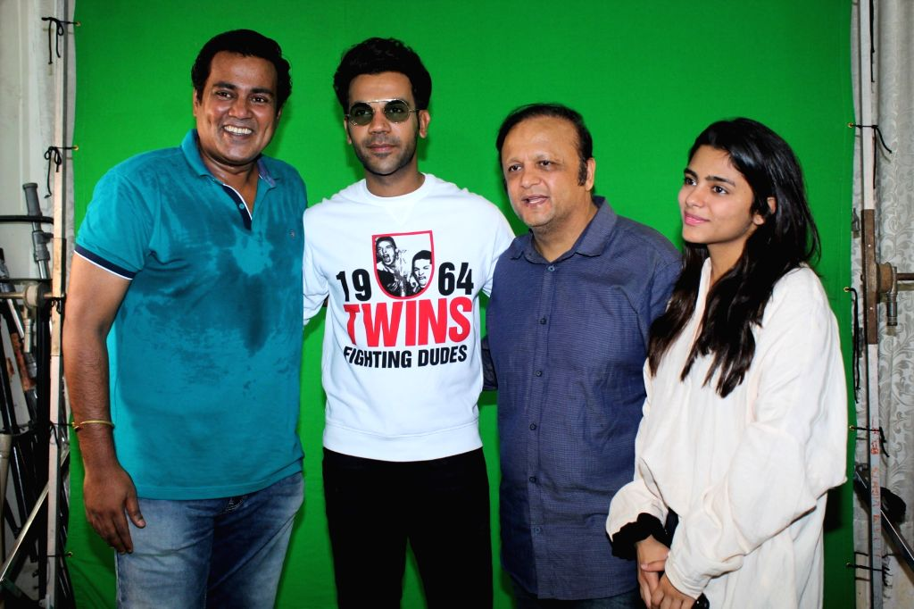 "Actor Rajkummar Rao during the shoot of Bhamla Foundation's Anti Air Pollution Anthem ""Hawaaanede"" in Mumbai on May 11, 2019. - Rajkummar Rao"
