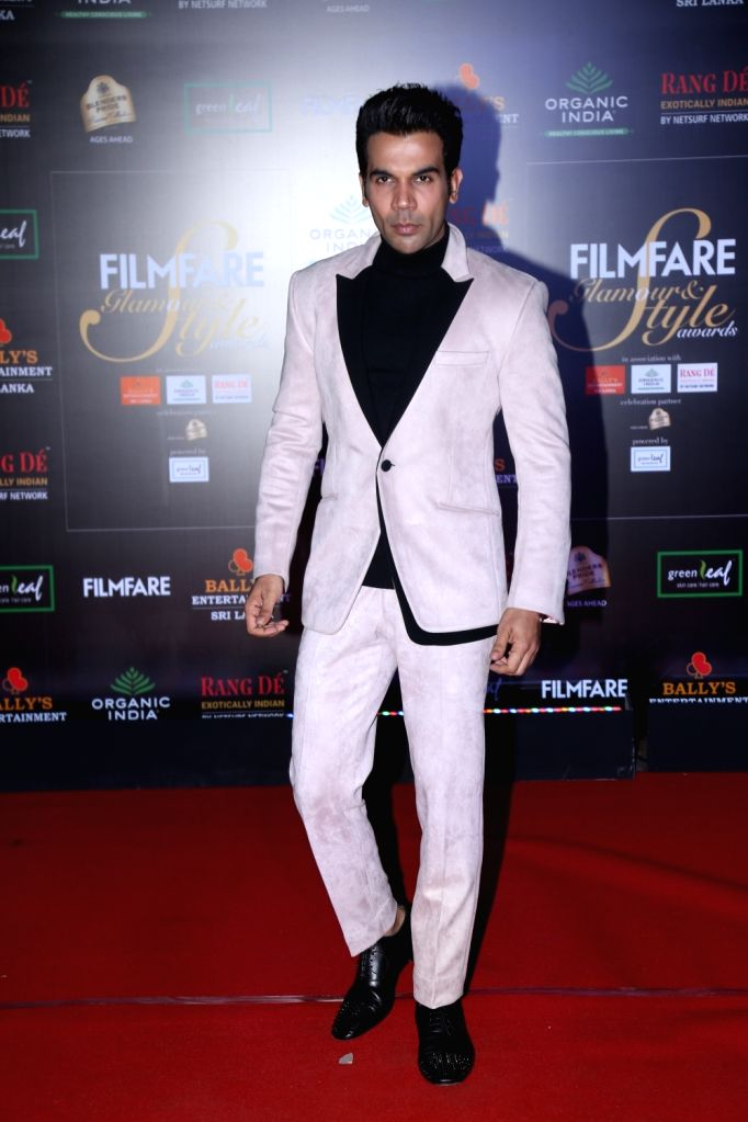 Actor Rajkummar Rao on the red carpet of Filmfare Glamour And Style Awards 2019 in Mumbai on Dec 3, 2019. - Rajkummar Rao