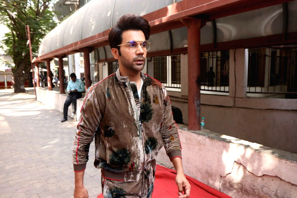 "Actor Rajkummar Rao on the sets of actress Neha Dhupia's show ""Vogue BFFs Season 3"" in Mumbai, on April 11, 2019. - Rajkummar Rao"