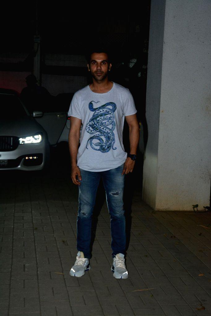 Actor Rajkummar Rao seen in Mumbai's Bandra, on April 10, 2019. - Rajkummar Rao