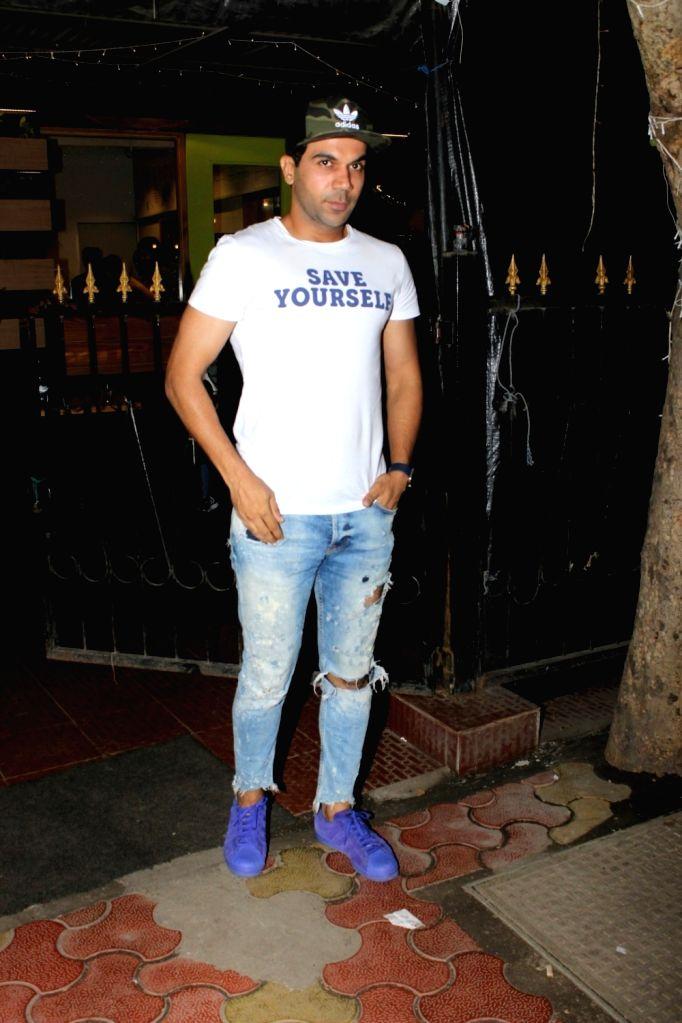 Actor Rajkummar Rao spotted at Bandra in Mumbai  on June 20, 2017. - Rajkummar Rao
