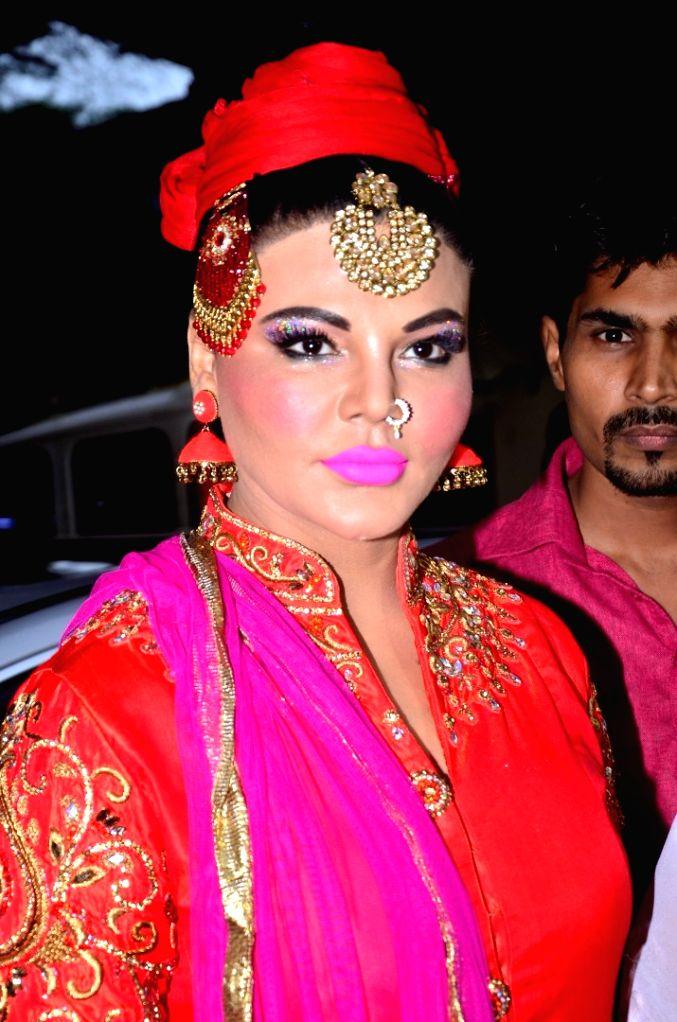 Actor Rakhi Sawant during the Rashtriya Mahila Samman and Rashtriya Gaurav Samman function, on July 8, 2016. - Rakhi Sawant
