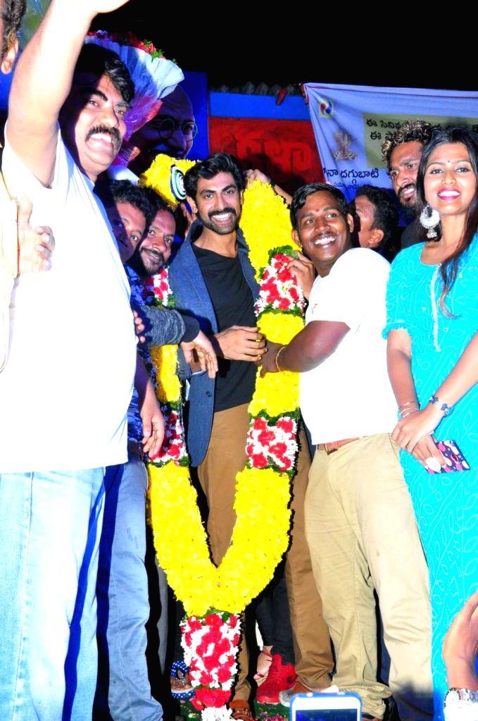 Actor Rana Daggubati during a programme in Hyderabad. - Rana Daggubati