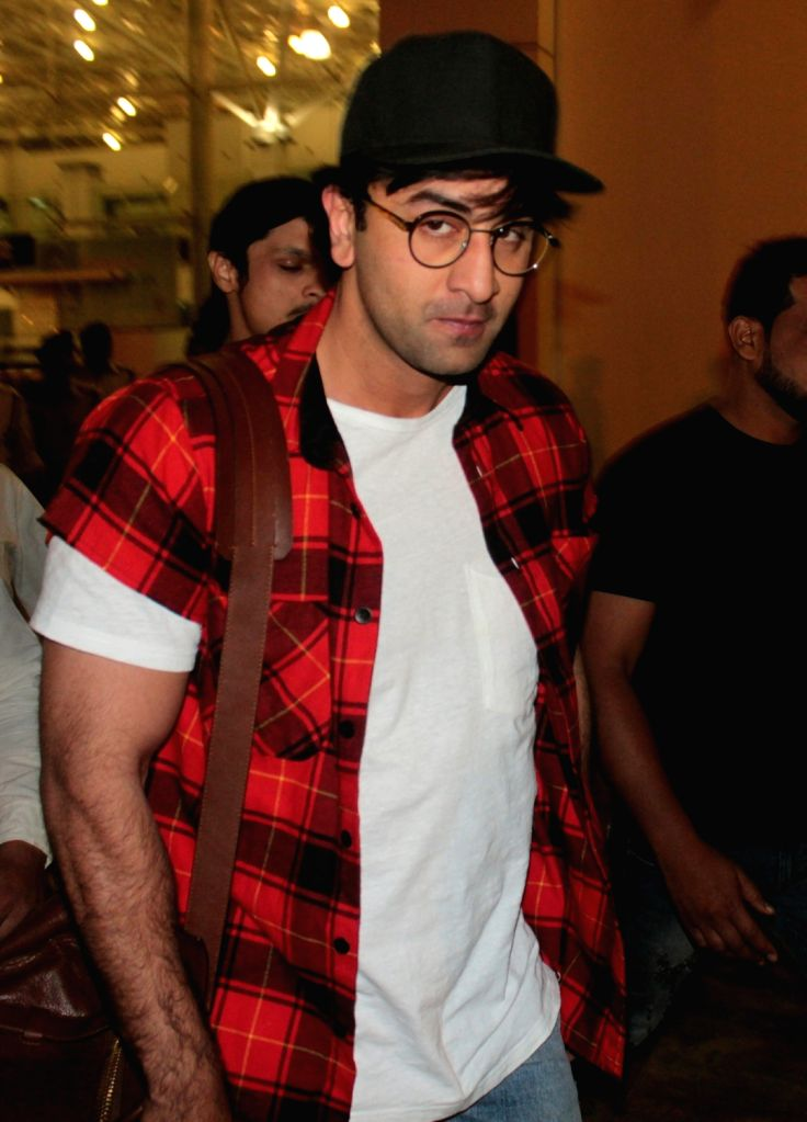 Actor Ranbir Kapoor arrives at Bhopal Airport on March 6, 2017. - Ranbir Kapoor