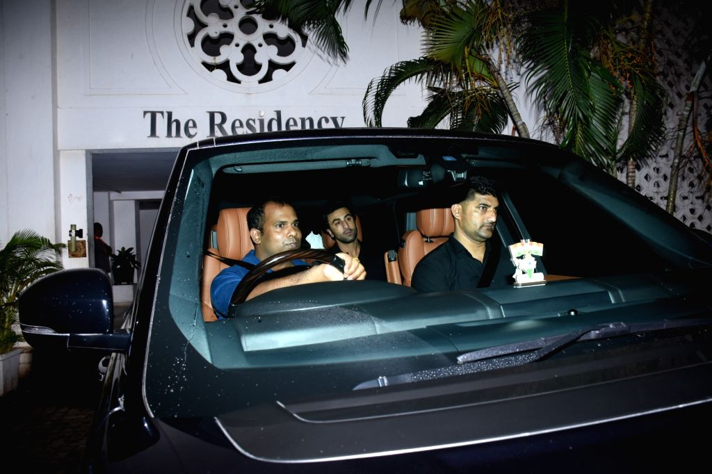 Actor Ranbir Kapoor arrives at filmmaker Karan Johar's house party in Mumbai, on July 27, 2019. - Ranbir Kapoor