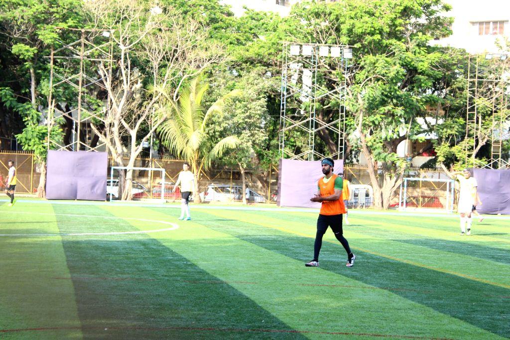 Actor Ranbir Kapoor during a football match in Mumbai's Juhu, on March 31, 2019. - Ranbir Kapoor