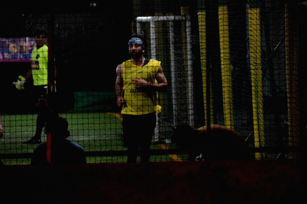 Actor Ranbir Kapoor during football match in Mumbai's Juhu on April 15, 2018 . - Ranbir Kapoor