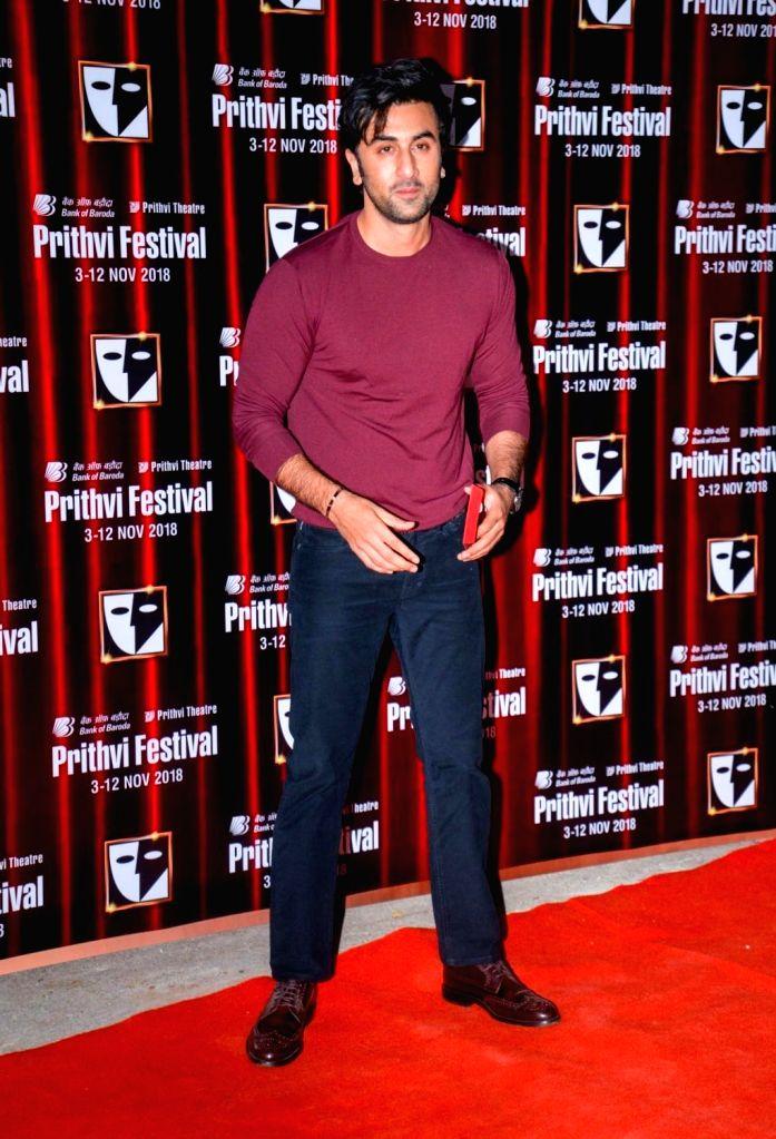 Actor Ranbir Kapoor during the Prithvi festival's opening ceremony in Mumbai on Nov 3, 2018. Prithvi Theatre celebrates 40 years. The festival began on November 3 and will end on November 12. - Ranbir Kapoor