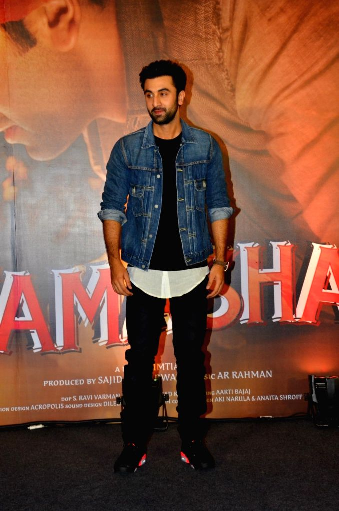 Actor Ranbir Kapoor during the promotion of film Tamasha in Mumbai on Nov 18, 2015. - Ranbir Kapoor