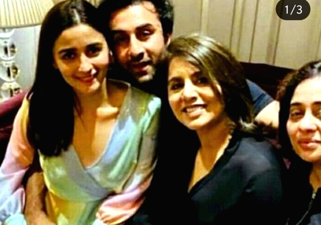 Actor Ranbir Kapoor has turned 37 on Sunday and he chose to celebrate his special day with his close frinds from the film industry. Ranbir threw a birthday party  last night in Mumbai at his residence where his former girlfriend Deepika Padukone was  - Ranbir Kapoor, Deepika Padukone and Ranveer Singh