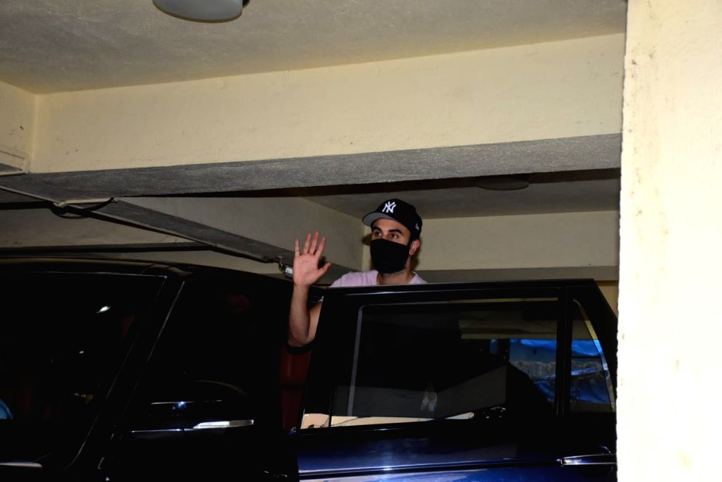 Actor Ranbir Kapoor seen at a Bandra dubbing studio in Mumbai on Oct 23, 2020. - Ranbir Kapoor