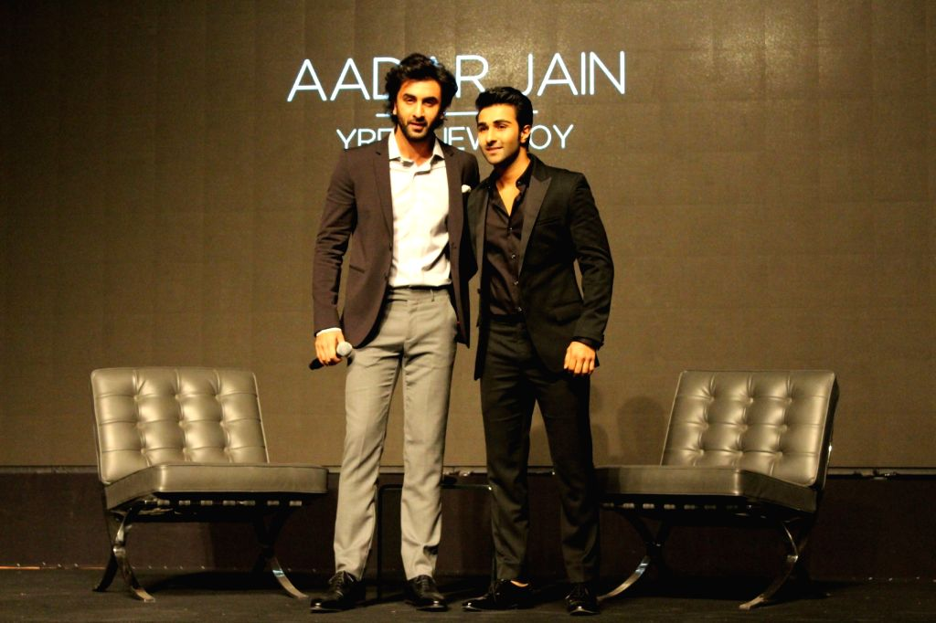 Actor Ranbir Kapoor with his cousin Aadar Jain during a YRF programme in Mumbai on July 5, 2017. - Ranbir Kapoor and Aadar Jain