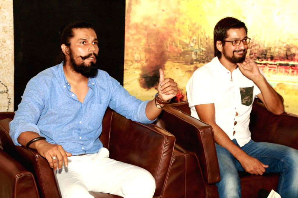 "Actor Randeep Hooda and director Kuldeep Ruhil during a press conference to promote their upcoming film ""Cheer Haran"" in New Delhi on June 27, 2017. - Randeep Hooda"