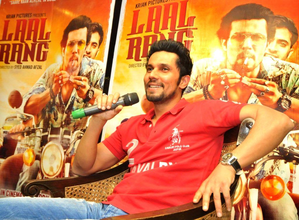 Actor Randeep Hooda during promotion of his upcoming film Laal Rang in New Delhi, on April 20, 2016. - Randeep Hooda