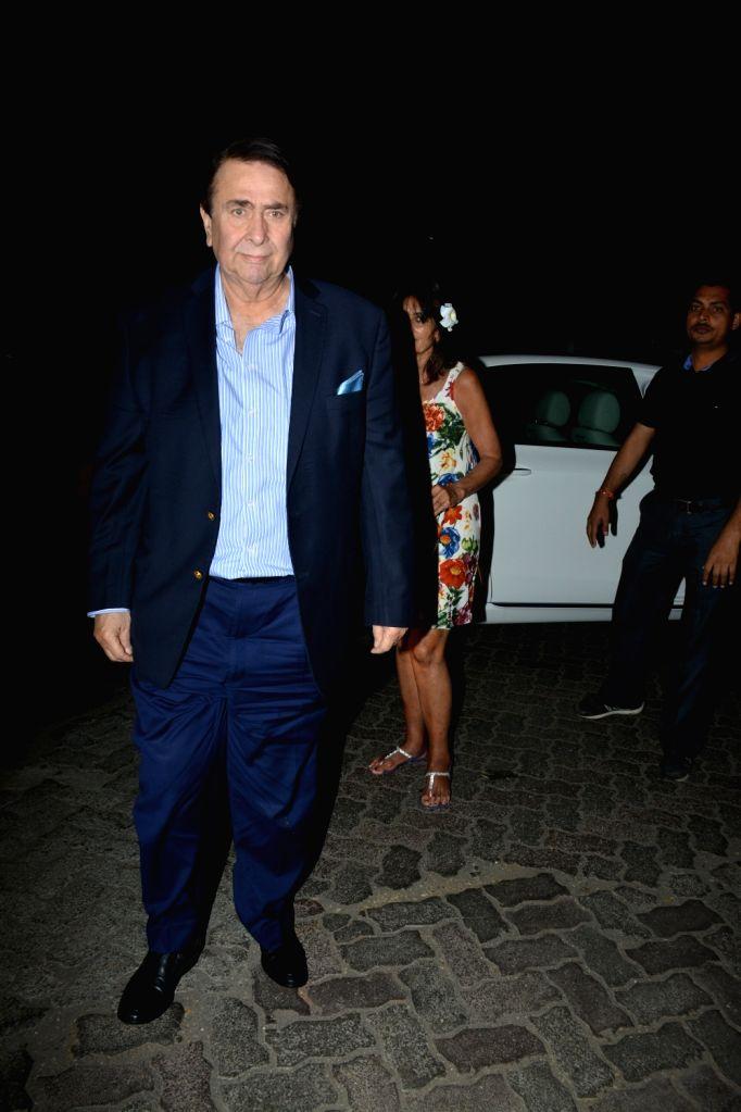 Actor Randhir Kapoor seen at a Mumbai restaurant on Feb 23, 2019. - Randhir Kapoor