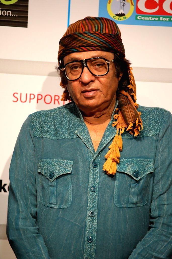 Actor Ranjit felicitated at 3rd International Film Festival of Prayag in Mumbai on Feb 27, 2017. - Ranjit