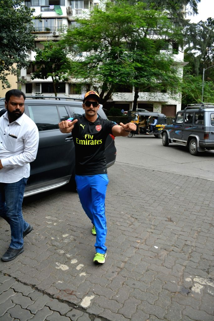 Actor Ranveer Singh Aaryan seen at Mumbai's Bandra on July 26, 2018. - Ranveer Singh Aaryan
