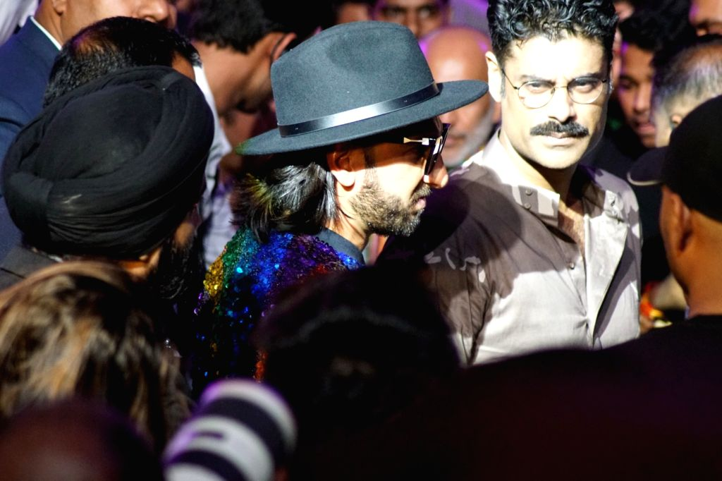 Actor Ranveer Singh and Sikandar Kher during the Lakme Fashion Week Winter/Festive 2017 in Mumbai on Aug 19, 2017. - Ranveer Singh and Sikandar Kher