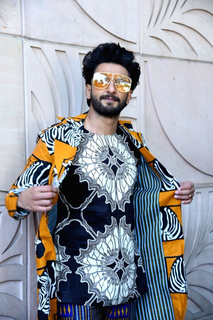 "Actor Ranveer Singh at an interview of his upcoming film ""Gully Boy"" in Mumbai, on Feb 7, 2019. - Ranveer Singh"