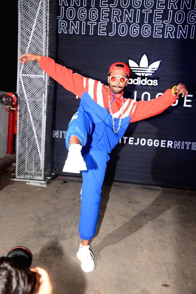 Actor Ranveer Singh at the launch of Adidas Nite Jogger in Mumbai, on April 11, 2019. - Ranveer Singh