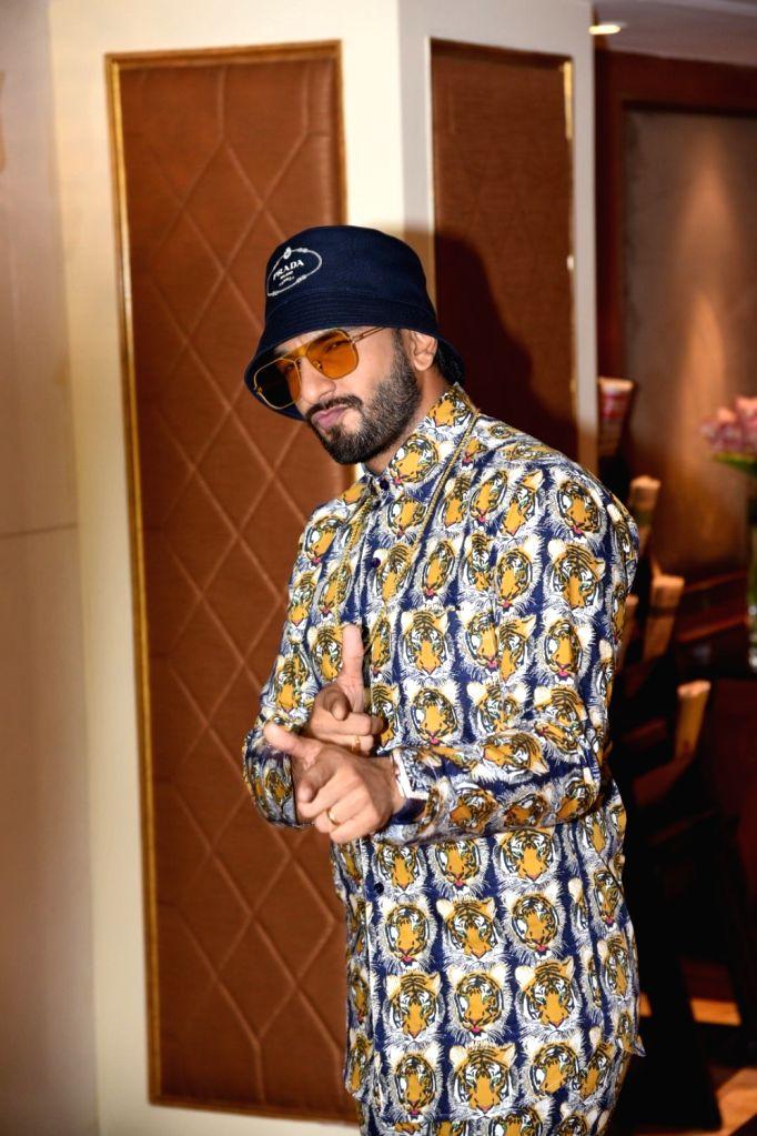 "Actor Ranveer Singh at the promotional interview of his upcoming film ""Gully Boy"" in Mumbai, on Feb 5, 2019. - Ranveer Singh"