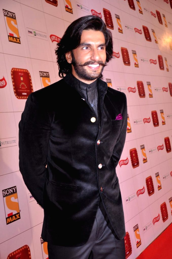 Actor Ranveer Singh at the red carpet of Stardust Awards at Jan 26 in Mumbai. - Ranveer Singh