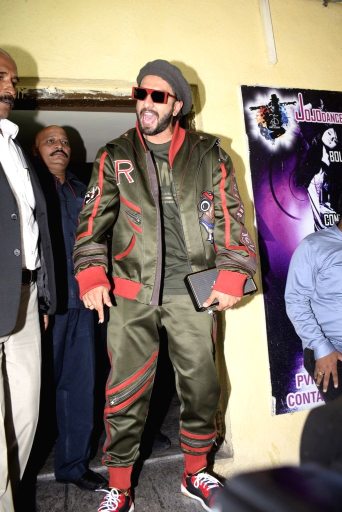 "Actor Ranveer Singh at the special screening of his upcoming film ""Gully Boy"" in Mumbai, on Feb 13, 2019. - Ranveer Singh"