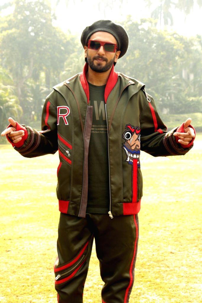 "Actor Ranveer Singh during a press conference regarding his upcoming film ""Gully Boy"" in New Delhi on Feb 13, 2019. - Ranveer Singh"