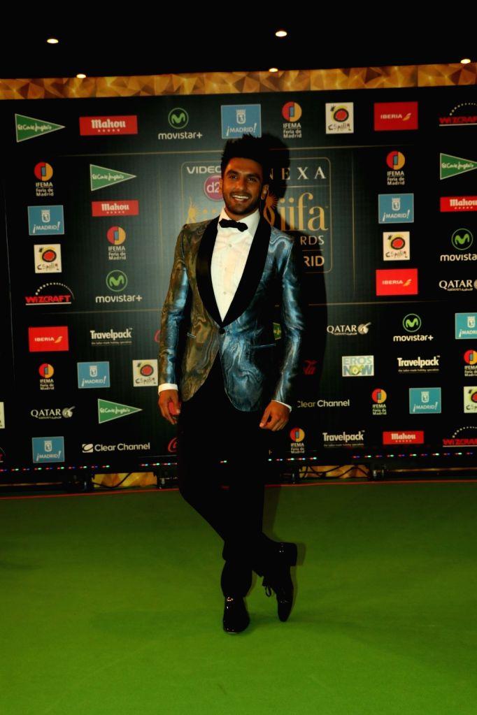 Actor Ranveer Singh during IIFA Awards in Madrid on June 26, 2016. - Ranveer Singh