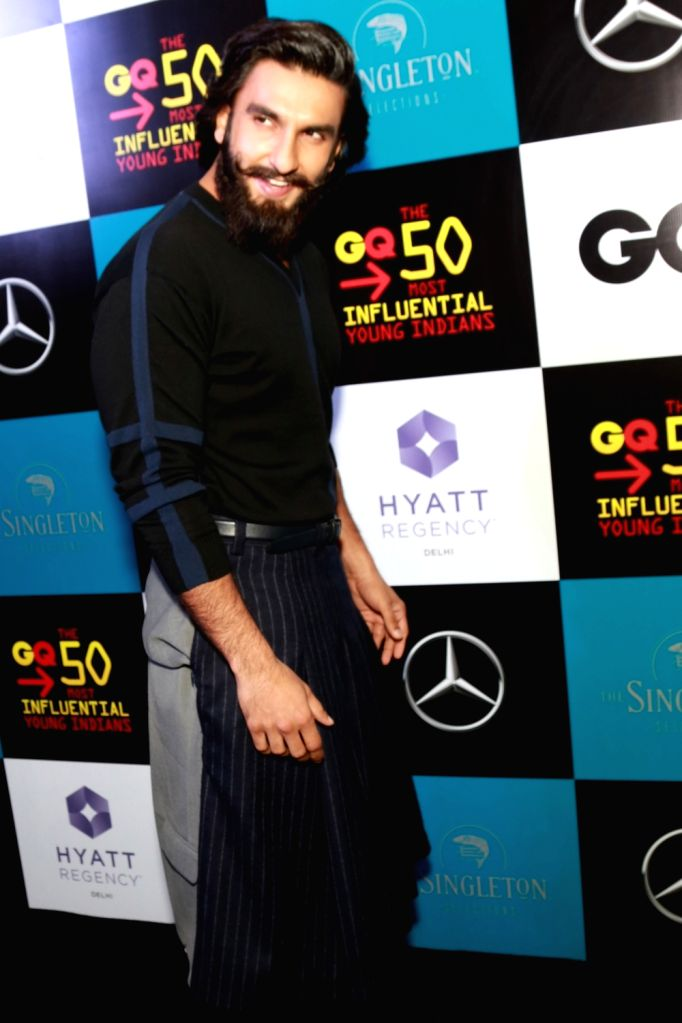 Actor Ranveer Singh during the announcement of 50 Most Influential Young Indians of 2017 by GQ India magazine, in New Delhi on July 07, 2017. - Ranveer Singh