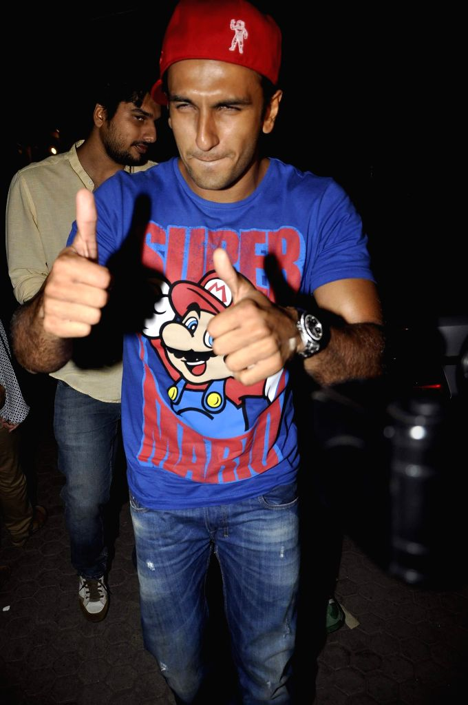 Actor Ranveer Singh during the launch of music Director Mikey Mccleary`s new album `Classic Bollywood with a Twist` at Blue Frog in Mumbai, on May 14, 2014. - Ranveer Singh
