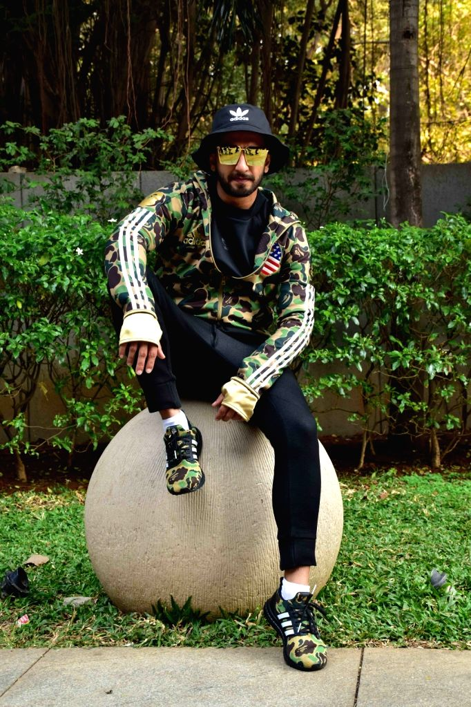"Actor Ranveer Singh during the promotions of his upcoming film ""Gully Boy"" in Mumbai, on Feb 5, 2019. - Ranveer Singh"