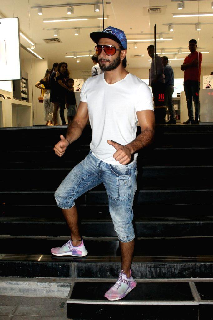 Actor Ranveer Singh seen at a Maple store in Bandra, Mumbai on May 19, 2018. - Ranveer Singh
