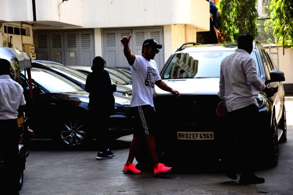 Actor Ranveer Singh seen at Mumbai's Bandra on Feb 25, 2019. - Ranveer Singh