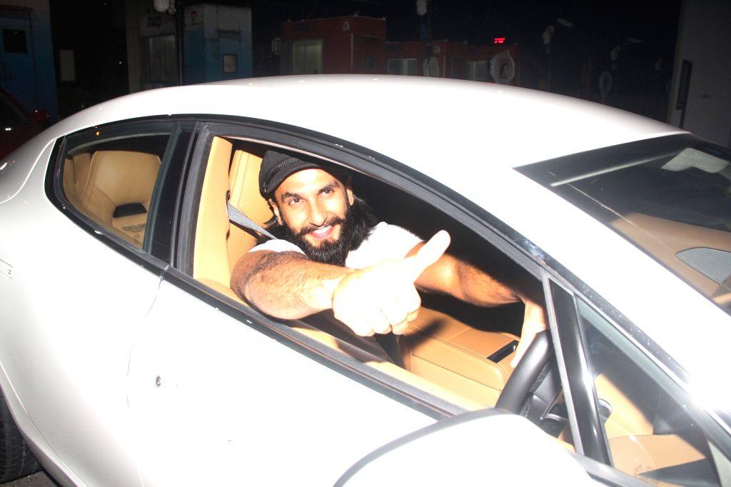 Actor Ranveer Singh seen driving his new car at Bandra-Worli sea link toll on July 5, 2017. - Ranveer Singh