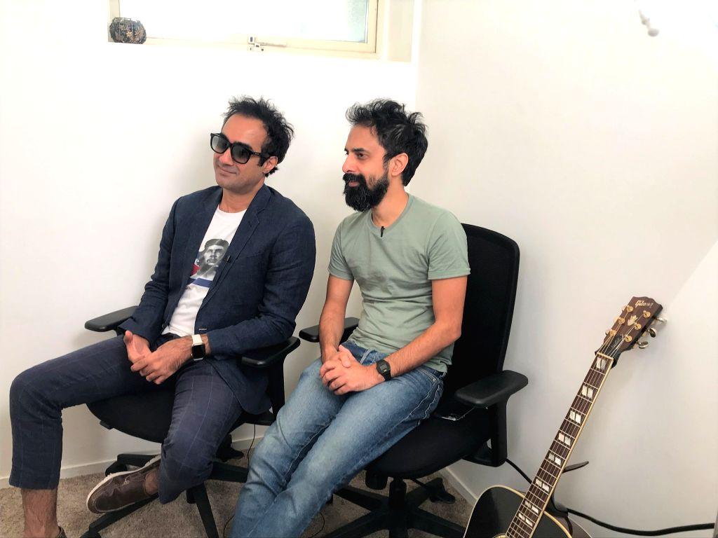 Actor Ranvir Shorey and singer-music composer Ankur Tewari at media interactions regarding their collaboration 'Upar Neeche' that got a video release on Sony Music, in Mumbai on Nov 12, 2019. - Ranvir Shorey