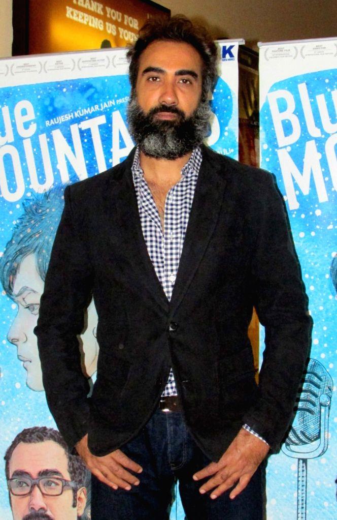 Actor Ranvir Shorey during a press conference to promote his upcoming film 'Blue Mountains' in Kolkata, on March 25, 2017. - Ranvir Shorey
