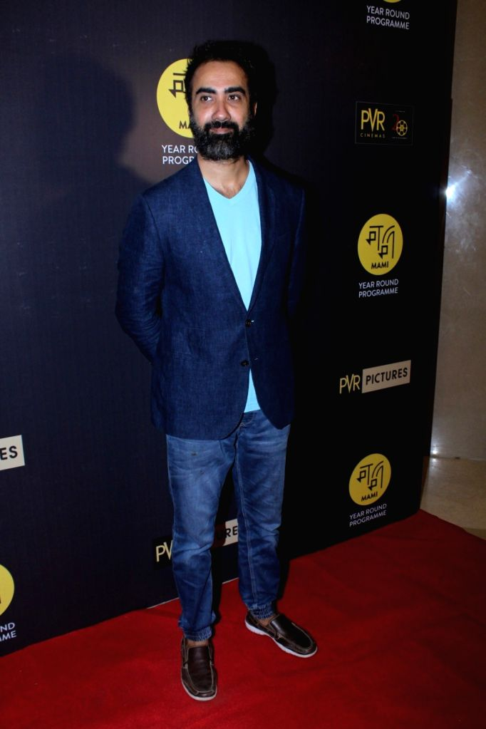 "Actor Ranvir Shorey during the red carpet of Hollywood film ""All The Money In The World"" in Mumbai, on Dec 29, 2017. - Ranvir Shorey"