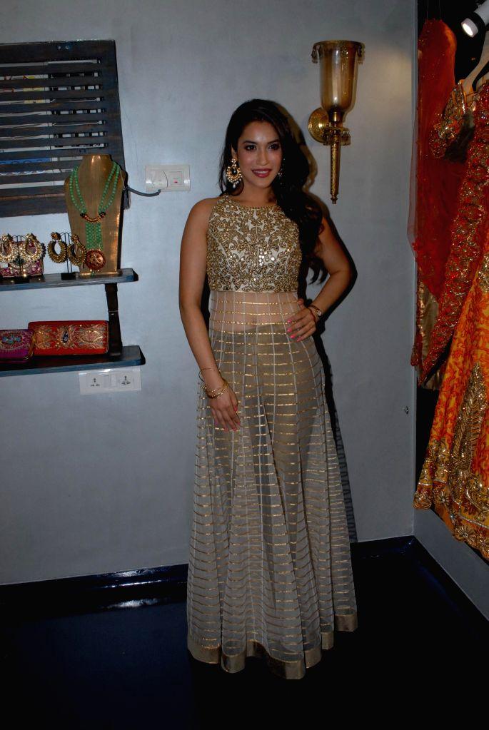 Actor Rashmi Nigam during the store opening of designer Mayyur Girotra in Mumbai, on April 18, 2014. - Rashmi Nigam