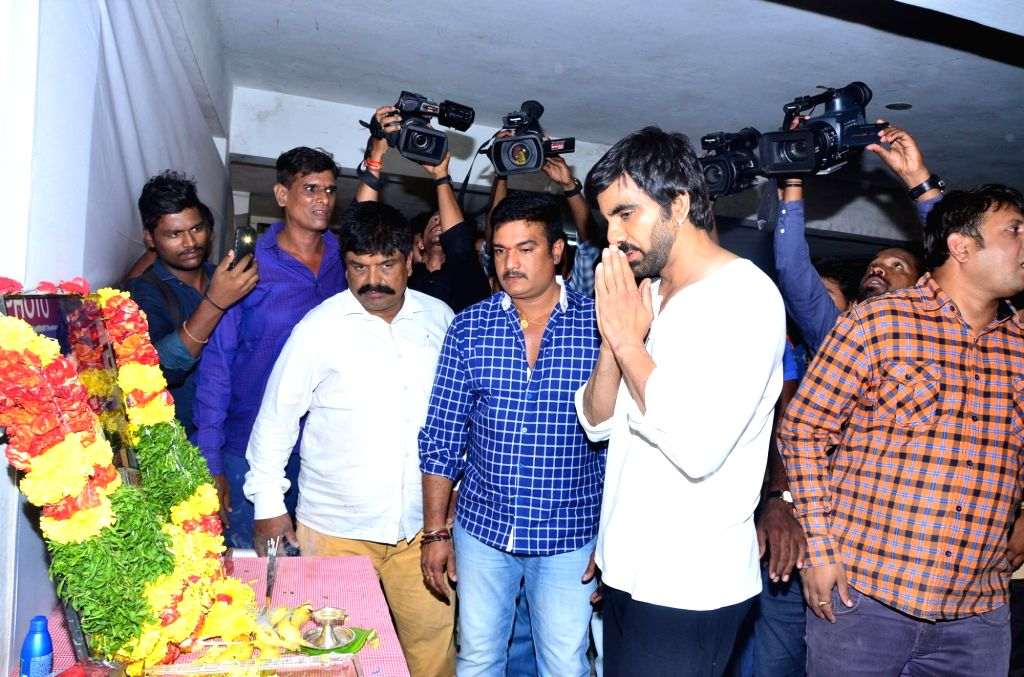 Actor Ravi Teja during a programme in Hyderabad, July 04, 2017. - Ravi Teja