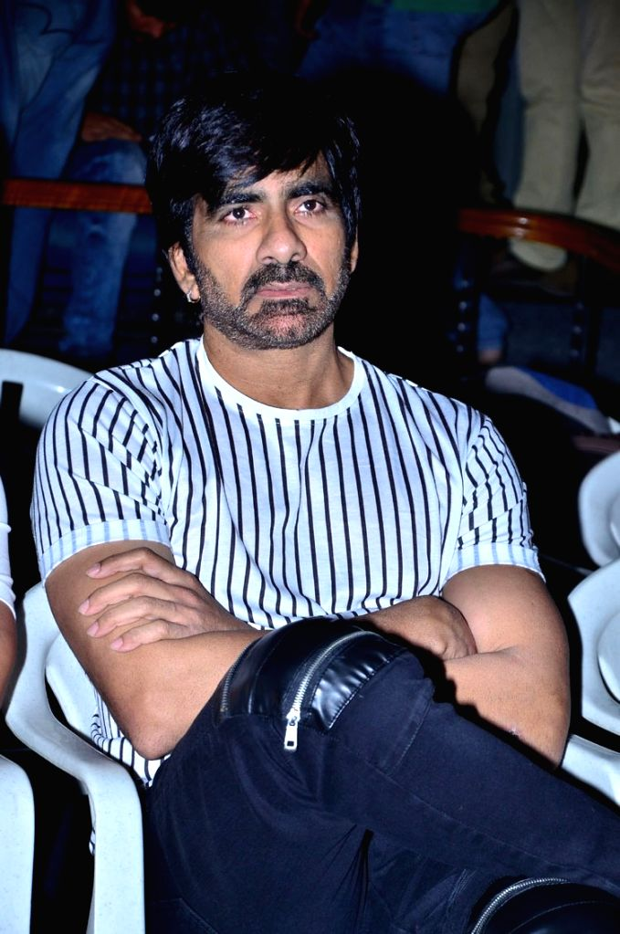 """Actor Ravi Teja during the trailer launch of his upcoming film """"Raja The Great"""" in Hyderabad. - Ravi Teja"""