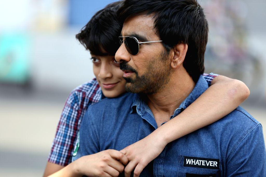 "Actor Ravi Teja's son Mahadhan is making his acting debut in upcoming Telugu film ""Raja The Great"",. - Ravi Tej"