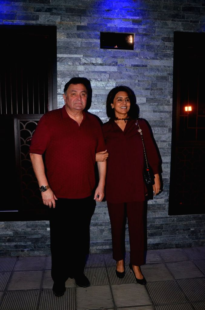 Actor Rishi kapoor along with his wife Neetu Kapoor at Hakkasan Restaurant in Mumbai on Oct 5, 2017. - Rishi and Neetu Kapoor