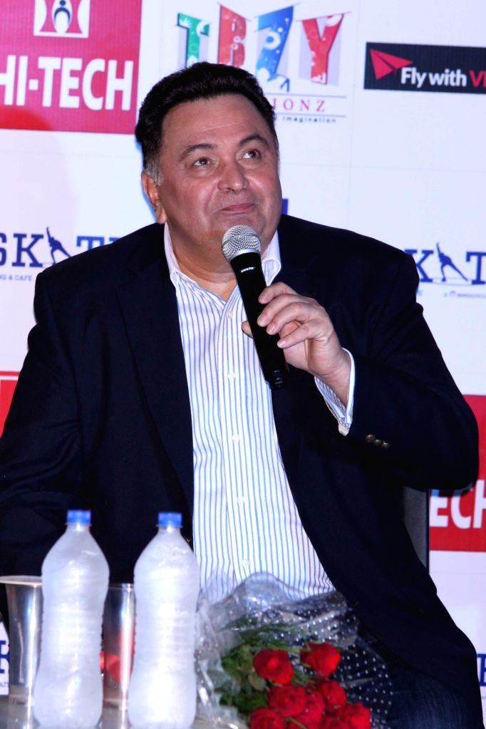 Actor Rishi Kapoor during a press conference to promote his upcoming film `All is Well` in Gurgaon, on Aug 10, 2015. - Rishi Kapoor