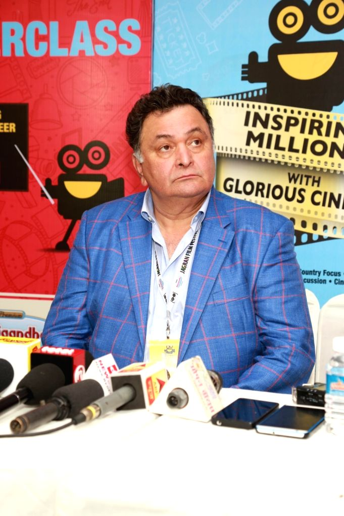 Actor Rishi Kapoor during inauguration of Jagran Film Festival in New Delhi, on July 2, 2017. - Rishi Kapoor