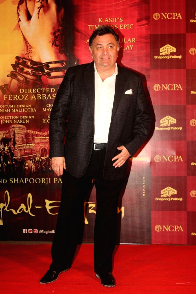 Actor Rishi Kapoor during the red carpet of musical play Mughal E Azam, in Mumbai,  on Oct 21, 2016. - Rishi Kapoor
