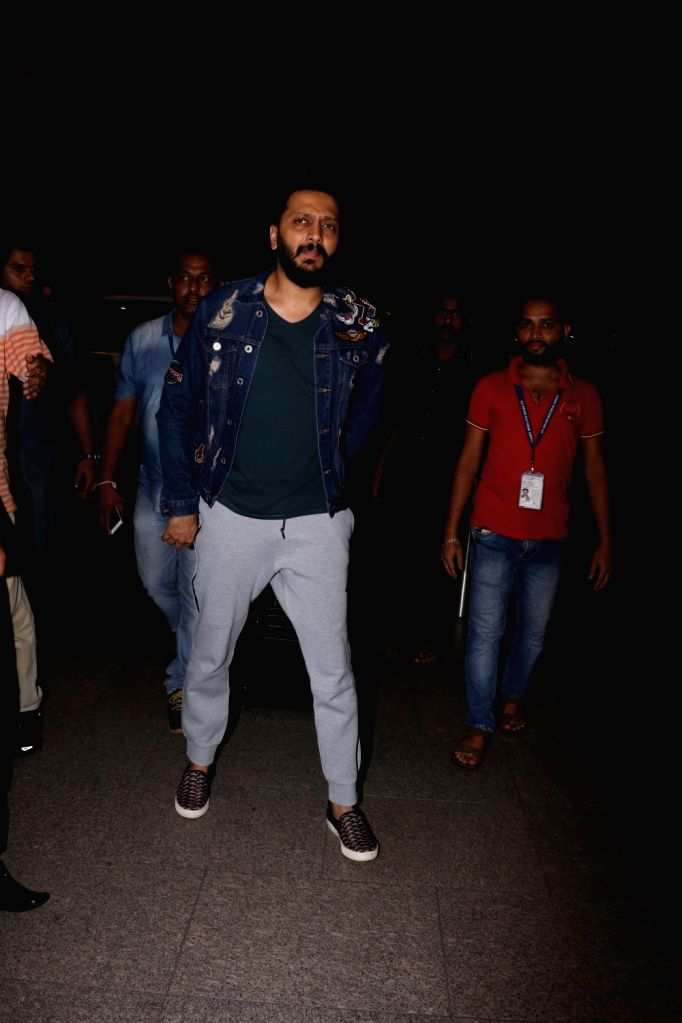 Actor Riteish Deshmukh at at Chhatrapati Shivaji International Airport in Mumbai, on July 3, 2017. - Riteish Deshmukh